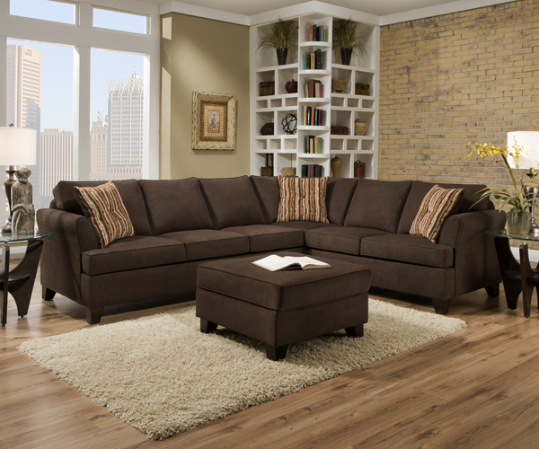 2049 diver chocolate sectional springfield furniture direct - Most popular furniture colors ...