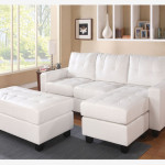 acme white leather sectional